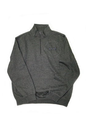 Men's Grey 1/4 Zip Pull Over