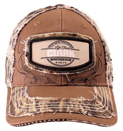 "Mossy Oak Premium CLARK Hat ""The Real American Lift Truck"" Patch"