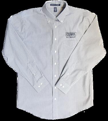 Grey and White Stripe Button Down Shirt