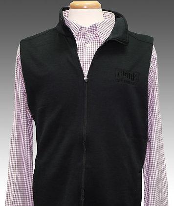 Men's Black Zip Up Fleece Vest