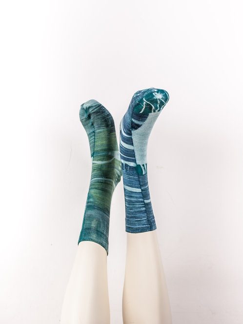 Socks > Petrol Blue - Green - Mint (Organic Cotton)