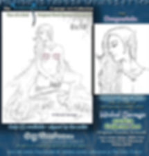 Dragontale Faerylands erotic original sketch artwork