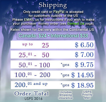 Shipping chart prices www.GreyForest.com
