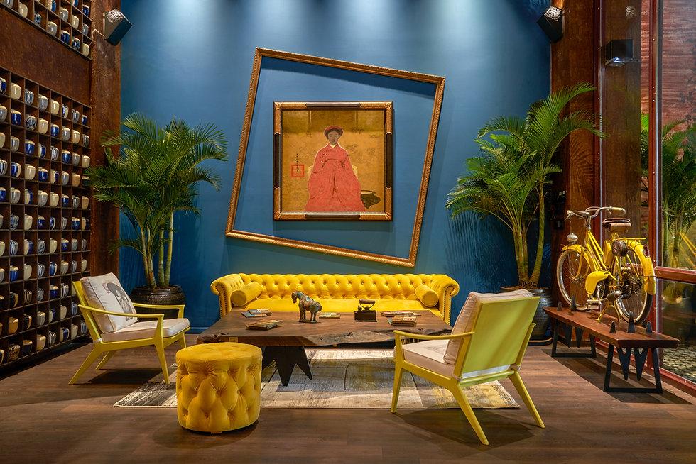 Interior photo of hotel lobby