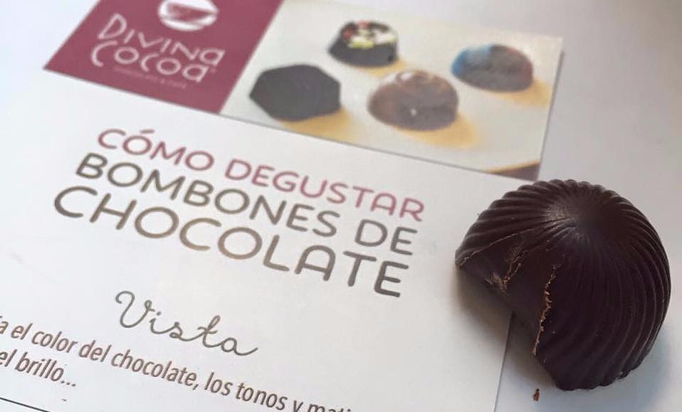 Degustación de bombones de chocolate