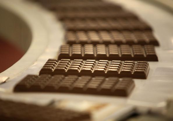 Línea de producción de chocolates