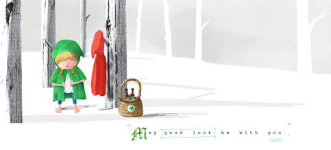 Little Red Riding Hood on Saint Patrick's Day