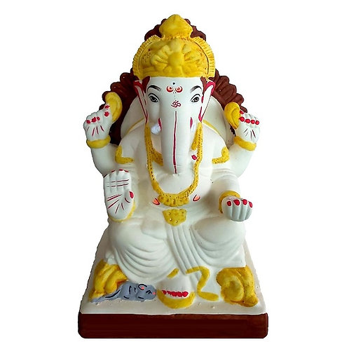 Philips Prabaval Eco Friendly Ganesha - 10 Inch MULTANI Finish (Shadu Mitti)