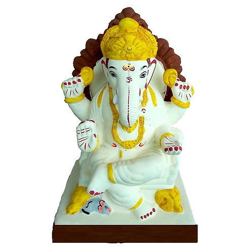 Furniture Prabhaval Eco Friendly Ganesha - 10 Inch MULTANI Finish (Shadu Mi