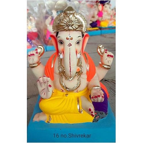Shivrekar Eco Friendly Ganesha - 12/13 Inch (Shadu Mitti)