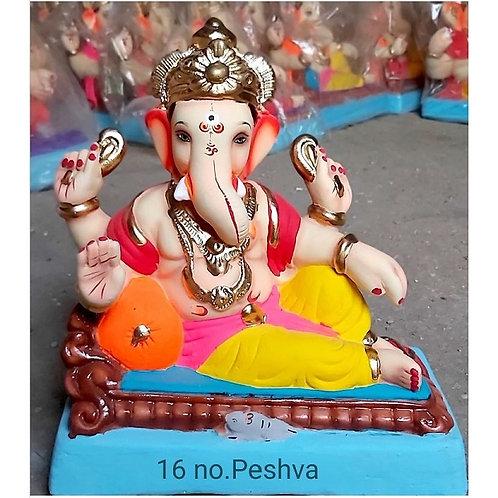 Peshwa Eco Friendly Ganesha - 12/13 Inch (Shadu Mitti)