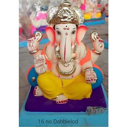 Double Load Eco Friendly Ganesha - 12/13 Inch (Shadu Mitti)
