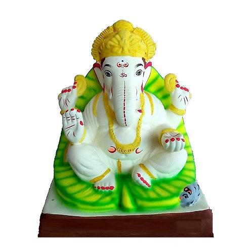 Parna Eco Friendly Ganesha - 10 Inch MULTANI Finish (Shadu Mitti)