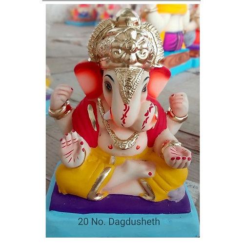 Dagadushet Eco Friendly Ganesha - 10 Inch (Shadu Mitti)