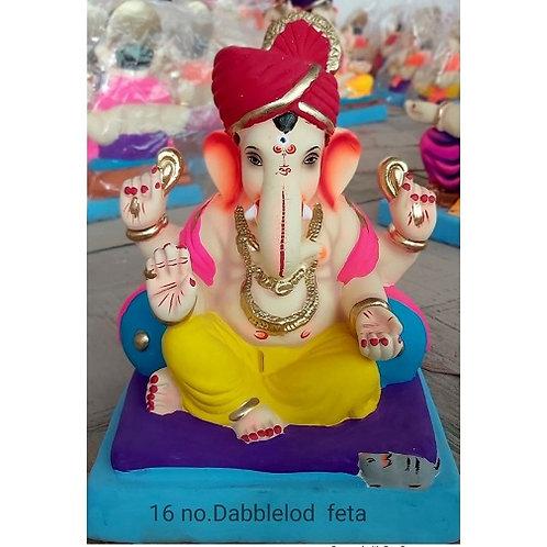 Double Load Feta Eco Friendly Ganesha - 12/13 Inch (Shadu Mitti)