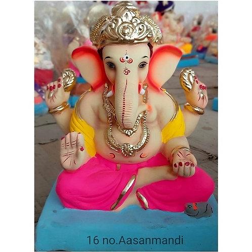 AsanMandi Eco Friendly Ganesha - 12/13 Inch (Shadu Mitti)