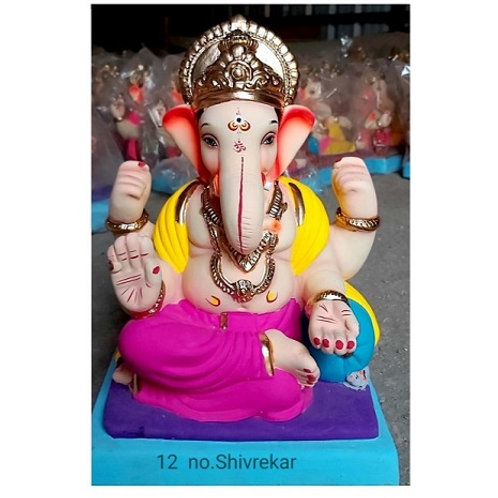 Shivrekar  Eco Friendly Ganesha - 15/16 Inch (Shadu Mitti)