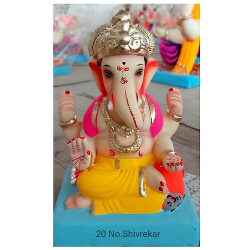 Shivrekar Eco Friendly Ganesha - 10 Inch (Shadu Mitti)