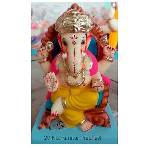 Furniture Prabaval Eco Friendly Ganesha - 10 Inch (Shadu Mitti)