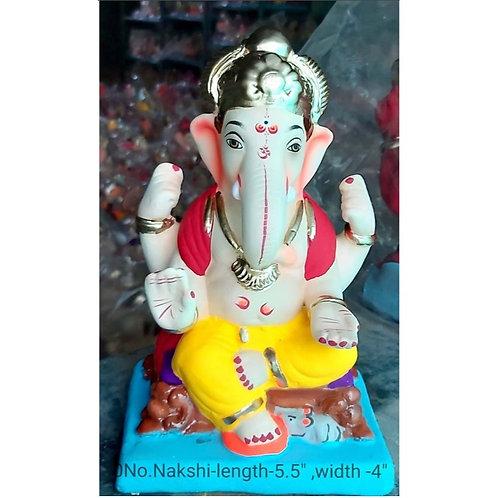 Nakshi Eco Friendly Ganesha -9 Inch (Shadu Mitti)