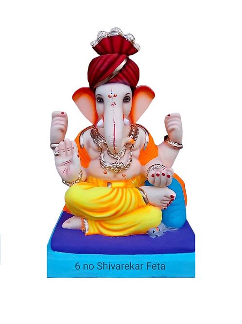 06 No Shivrekar Feta Eco Friendly Ganesha - 19 Inch (Shadu Mitti)