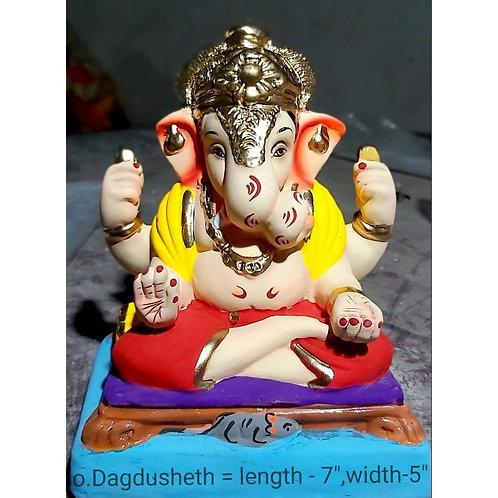 Dagadushet Eco Friendly Ganesha -9 Inch