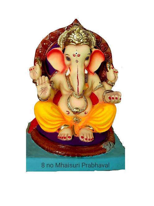 08 No Mhaisuri Prabhaval Eco Friendly Ganesha - 18 Inch (Shadu Mitti)
