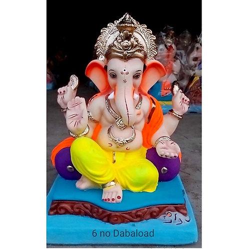 Double Load Eco Friendly Ganesha - 19 Inch (Shadu Mitti)