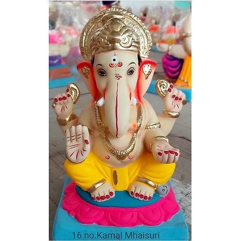 Kamal Eco Friendly Ganesha - 12/13 Inch (Shadu Mitti)