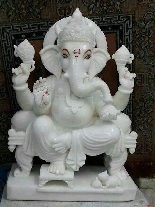 Marble Ganesha 1feet