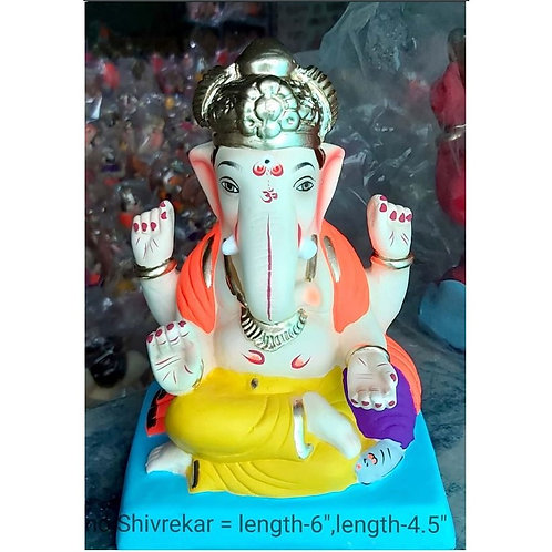 Shivrekar Eco Friendly Ganesha -9 Inch (Shadu Mitti)