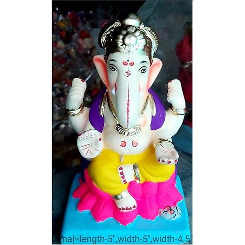 Kamal Eco Friendly Ganesha -9 Inch (Shadu Mitti)