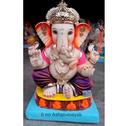 Ashtavinayak Eco Friendly Ganesha - 19 Inch (Shadu Mitti)
