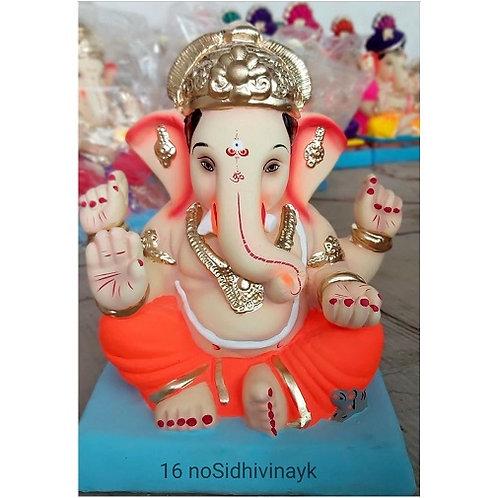 Siddhivinayak Eco Friendly Ganesha - 12/13 Inch (Shadu Mitti)
