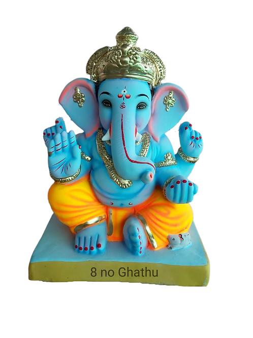 08 Ghatu  Eco Friendly Ganesha - 18 Inch (Shadu Mitti)