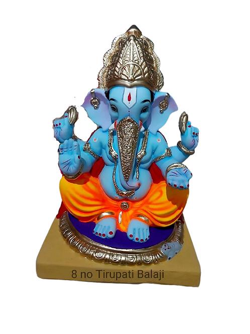 08 No Tirupati Eco Friendly Ganesha - 18 Inch (Shadu Mitti)