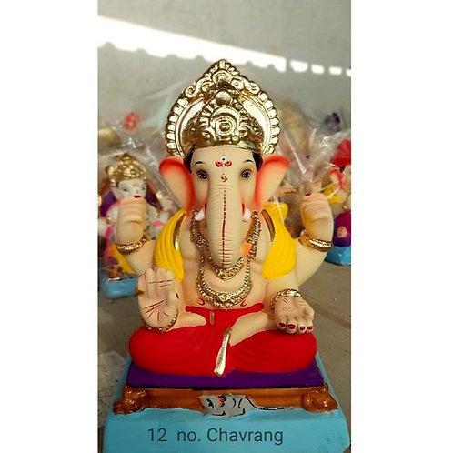 Chourang Eco Friendly Ganesha - 15/16 Inch (Shadu Mitti)