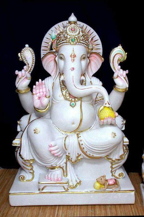 Marble Ganesha 1 feet