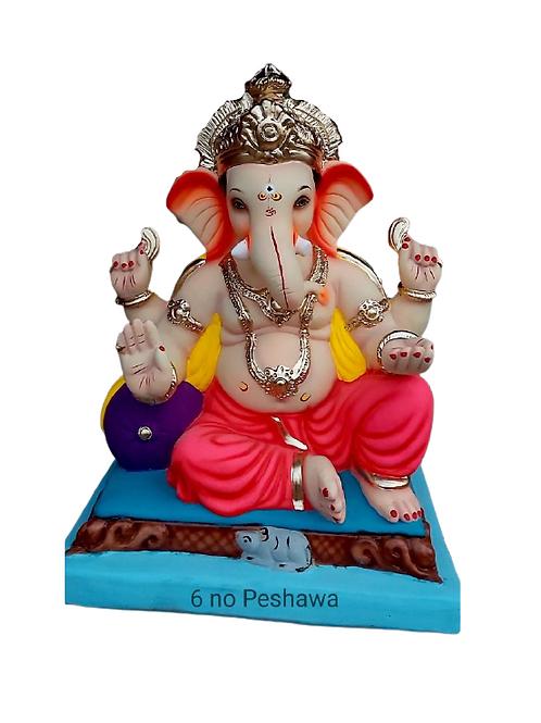 06 No Peshwa Eco Friendly Ganesha - 19 Inch (Shadu Mitti)