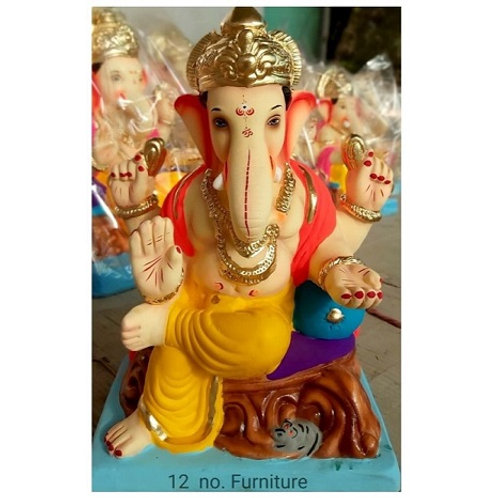 Furniture Eco Friendly Ganesha - 15/16 Inch (Shadu Mitti)