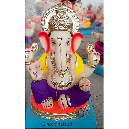 Mhaisuri Eco Friendly Ganesha - 12/13 Inch (Shadu Mitti)