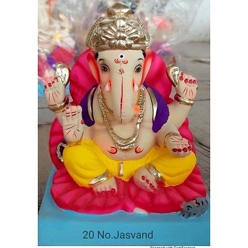 Jaswanda Eco Friendly Ganesha - 10 Inch (Shadu Mitti)