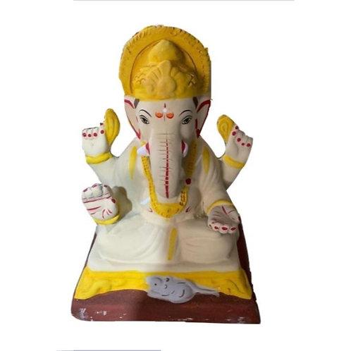 Eco Friendly Multani Ganesha Chourang - 10 Inch