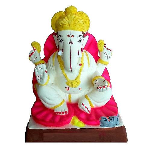 Jaswanda Eco Friendly Ganesha - 10 Inch MULTANI Finish (Shadu Mitti)