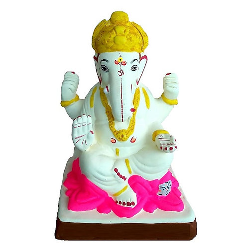 Kamal Eco Friendly Ganesha - 10 Inch MULTANI Finish (Shadu