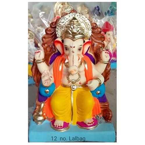 Lalbaug Eco Friendly Ganesha - 15/16 Inch (Shadu Mitti)