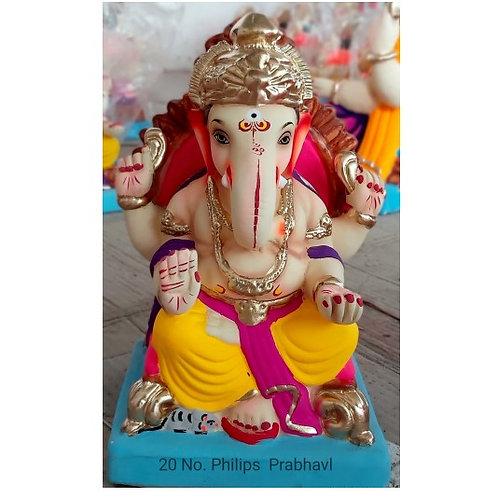 Philips Prabaval Eco Friendly Ganesha - 10 Inch (Shadu Mitti)