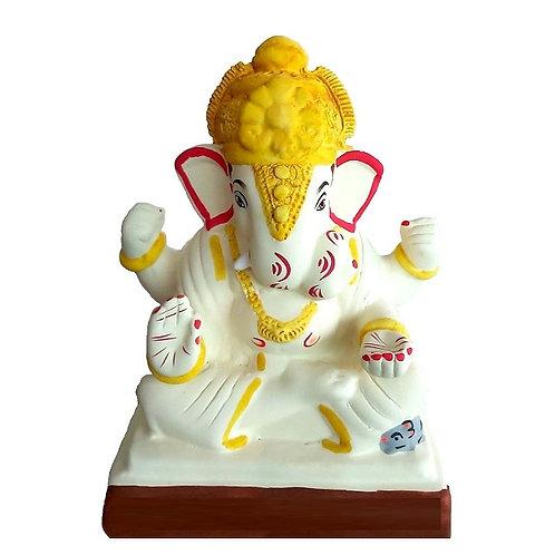 Dagadusheth Eco Friendly Ganesha - 10 Inch MULTANI Finish (Shadu Mi