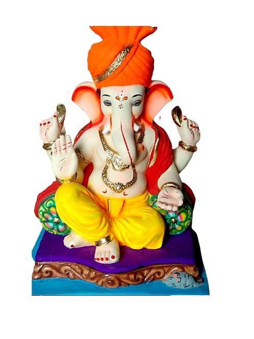 06 No Double Load Feta Eco Friendly Ganesha - 19 Inch (Shadu Mitti)