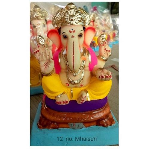 Mhaisuri Eco Friendly Ganesha - 15/16 Inch (Shadu Mitti)